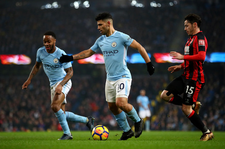 Manchester City x AFC Bournemouth - Premier League 2017/2018 - Campeonato Jornada 19